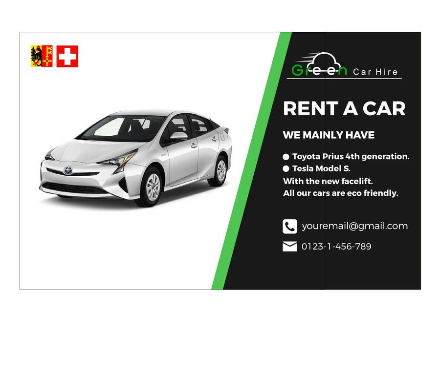 Entry 52 By Hiamirasel1 For Design A Banner For Rental Car Company In Switzerland Freelancer