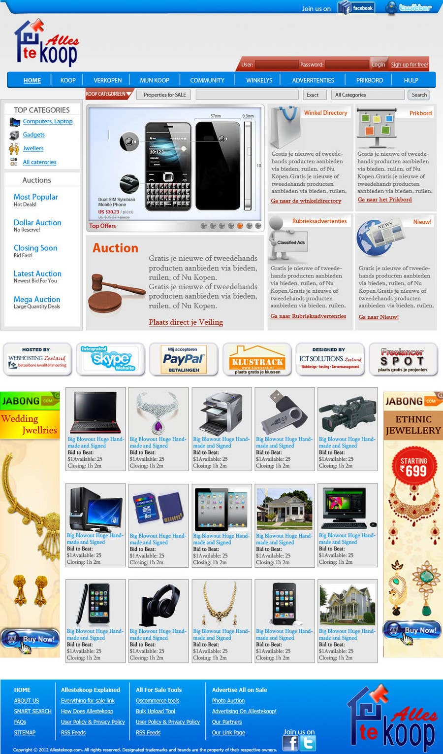 Bài tham dự cuộc thi #                                        6                                      cho                                         Website Design for auction/classifieds