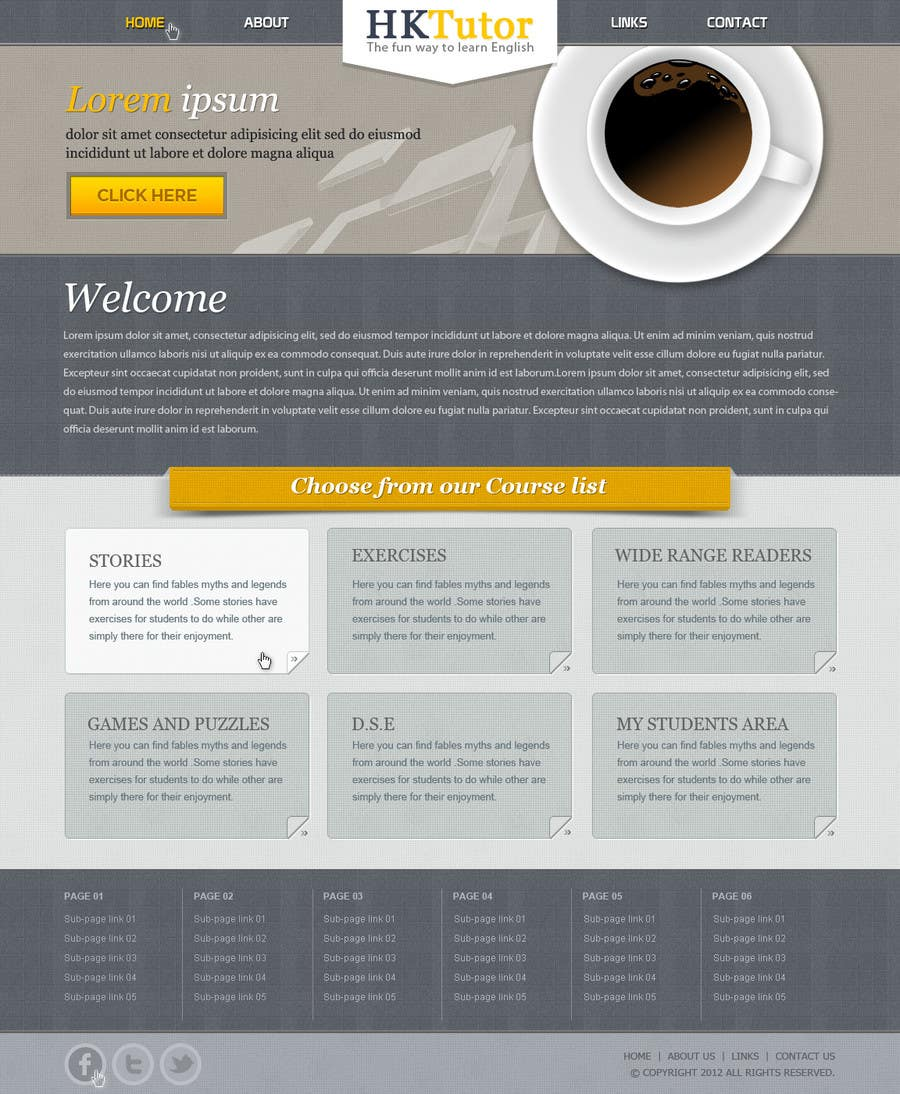 Конкурсная заявка №80 для Wordpress Theme Design for Teaching English