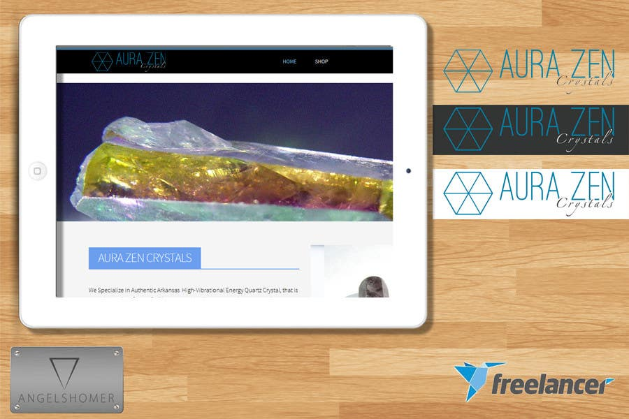 Design a new Logo for AuraZen Crystals | Freelancer