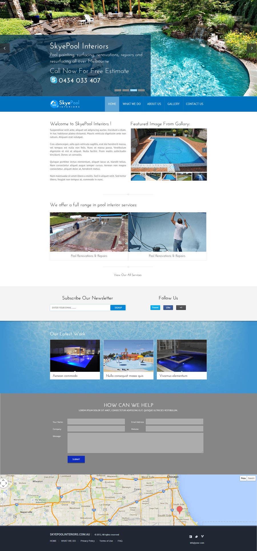 Bài tham dự cuộc thi #                                        41                                      cho                                         Design a Website Mockup/Including Logo for Pool Renovation company
