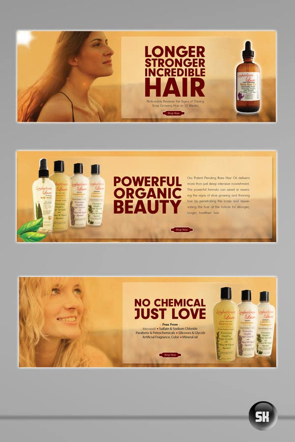 Entry 8 By Sanu1224 For Banner Ad Design For 3 Organic Hair Care Website Freelancer