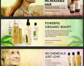 #14 para Banner Ad Design for 3 Organic Hair Care Website por agiel24