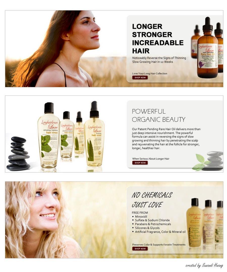 Inscrição nº                                         1                                      do Concurso para                                         Banner Ad Design for 3 Organic Hair Care Website