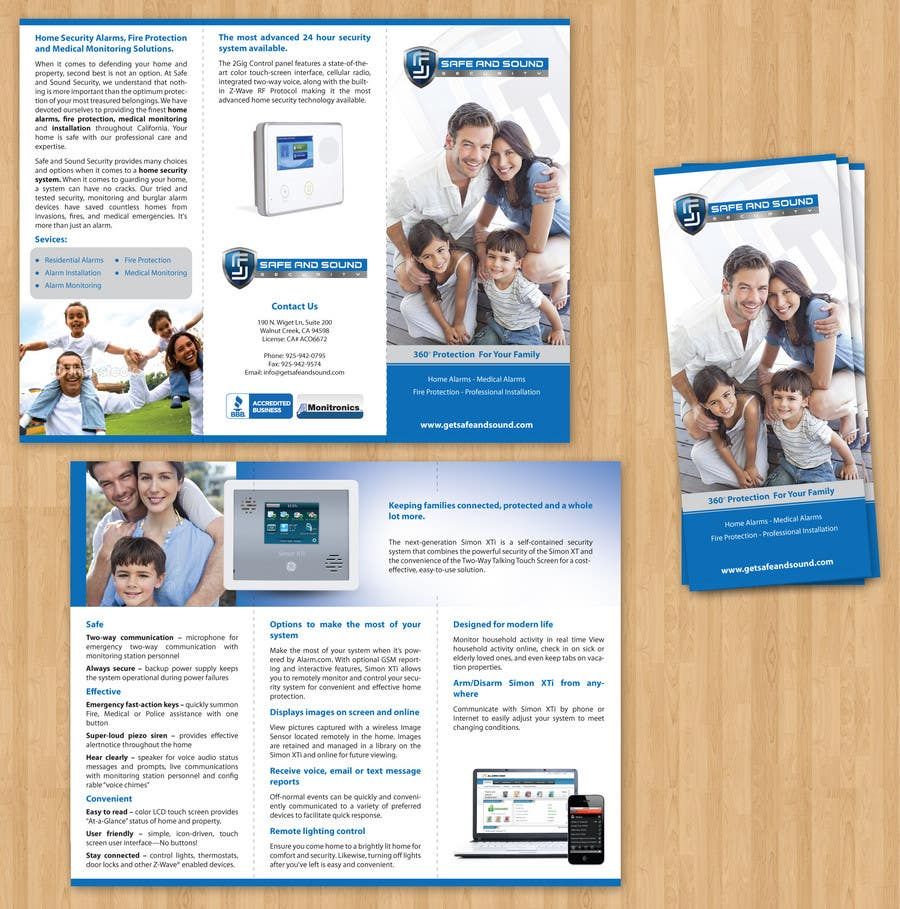 Contest Entry #                                        4                                      for                                         Brochure Design for Safe and Sound Security