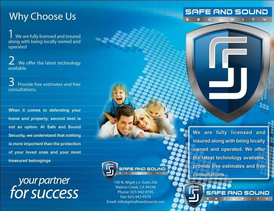 Contest Entry #                                        38                                      for                                         Brochure Design for Safe and Sound Security