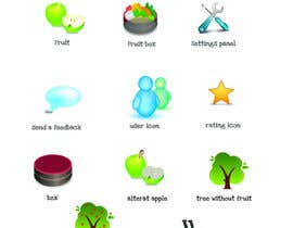 nº 47 pour Icon or Button Design for UglyFruit par Smartdotsteam