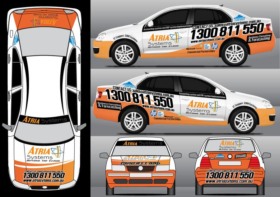 Конкурсная заявка №9 для Vehicle Wrap design for Atria Systems
