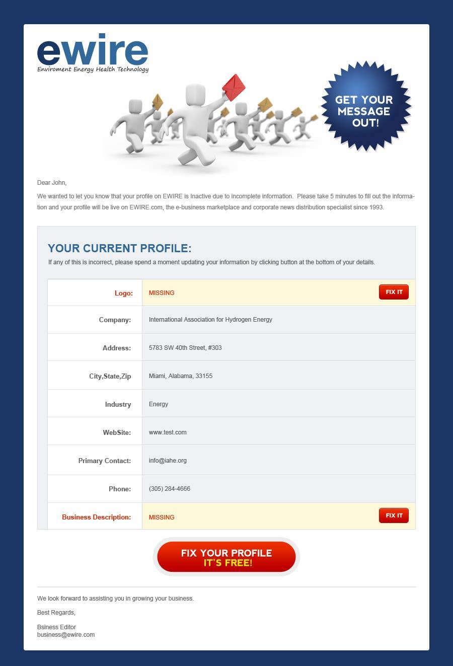 Inscrição nº                                         35                                      do Concurso para                                         Newsletter Design for EWIRE.com