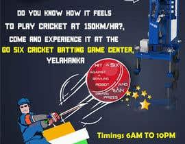#11 untuk Advertising Poster for Cricket Batting Game Center oleh iamavinashshetty