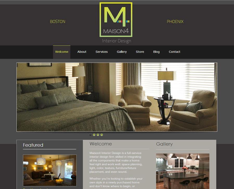Contest Entry #11 For Design A PSD Website Mockup For Interior Design/Event  Planning