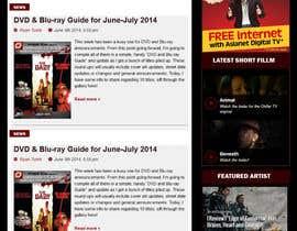 nº 3 pour Design a Website Mockup for ZombDay a Zombie Horror News Website par Josahar