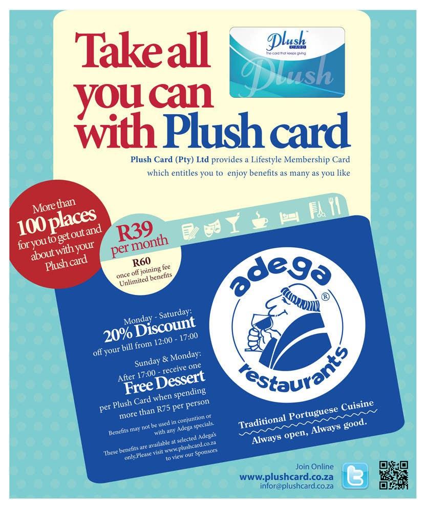 Inscrição nº                                         32                                      do Concurso para                                         Magazine Advert redesign for Plush Card (Pty) Ltd