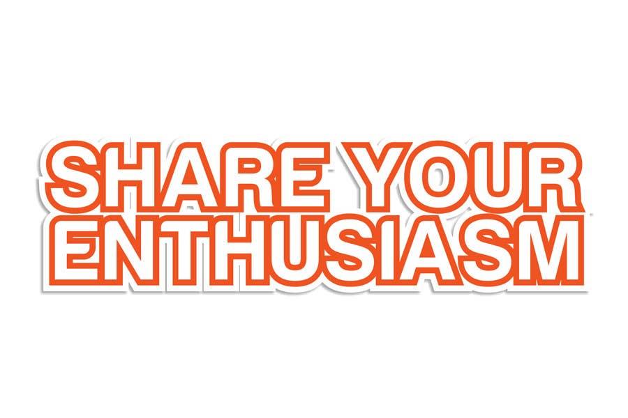 Proposition n°                                        529                                      du concours                                         Logo Design for Share your enthusiasm