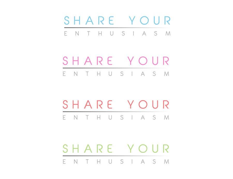 Proposition n°                                        231                                      du concours                                         Logo Design for Share your enthusiasm