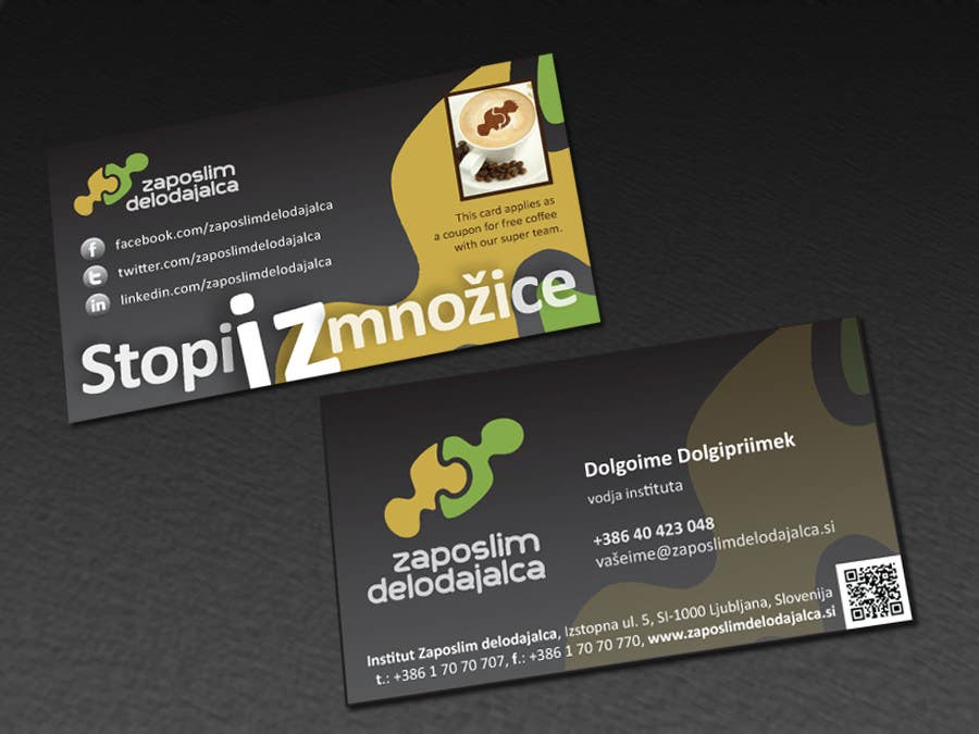 Contest Entry #46 for Business Card Design for ZD institute