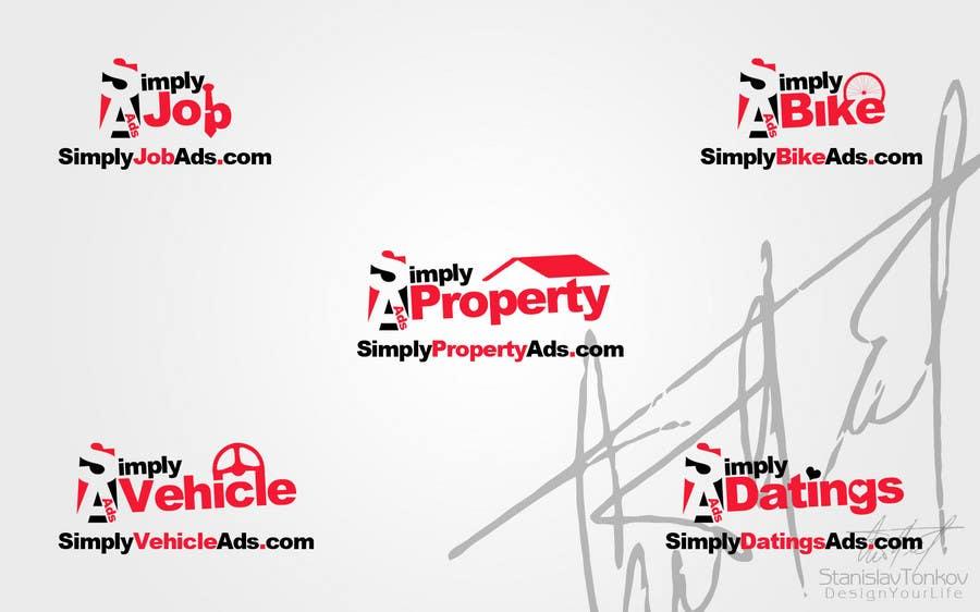 Конкурсная заявка №66 для Logo Design for simplyTHEMEWORDads.com (THEMEWORDS: PET, JOB, PROPERTY, BIKE, VEHICLE, DATING)
