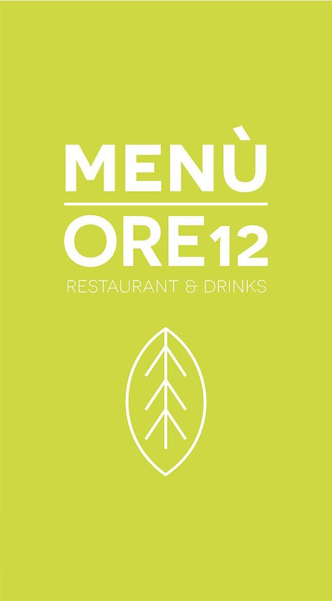 """Penyertaan Peraduan #                                        17                                      untuk                                         Disegnare un MENU per il mio ristorante """"Ore12"""""""