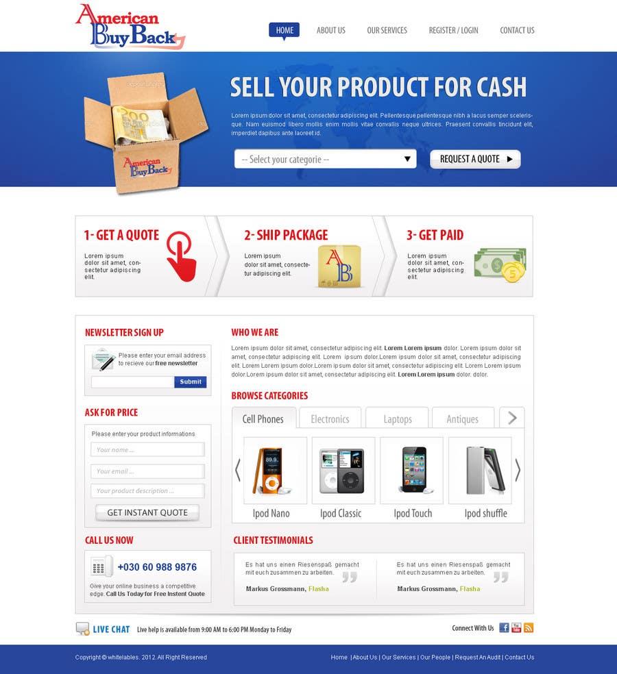 Penyertaan Peraduan #115 untuk Website Design for American Buy Back! Buying Electronics Antiques Gold and valuables Online w/Cash