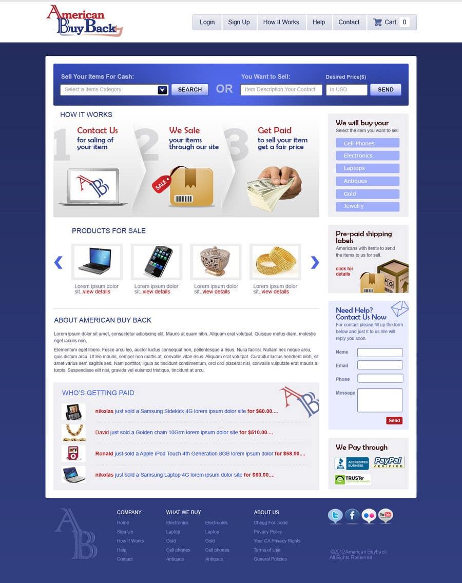 Inscrição nº 24 do Concurso para Website Design for American Buy Back! Buying Electronics Antiques Gold and valuables Online w/Cash