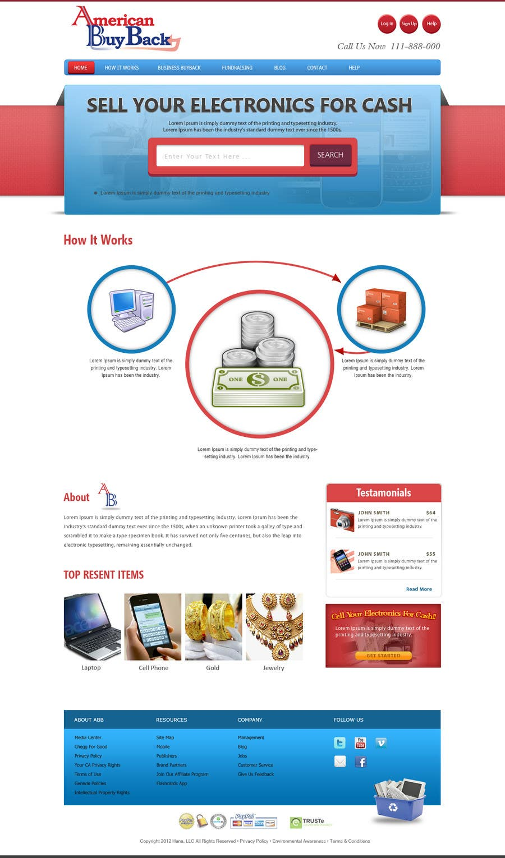 Inscrição nº 80 do Concurso para Website Design for American Buy Back! Buying Electronics Antiques Gold and valuables Online w/Cash