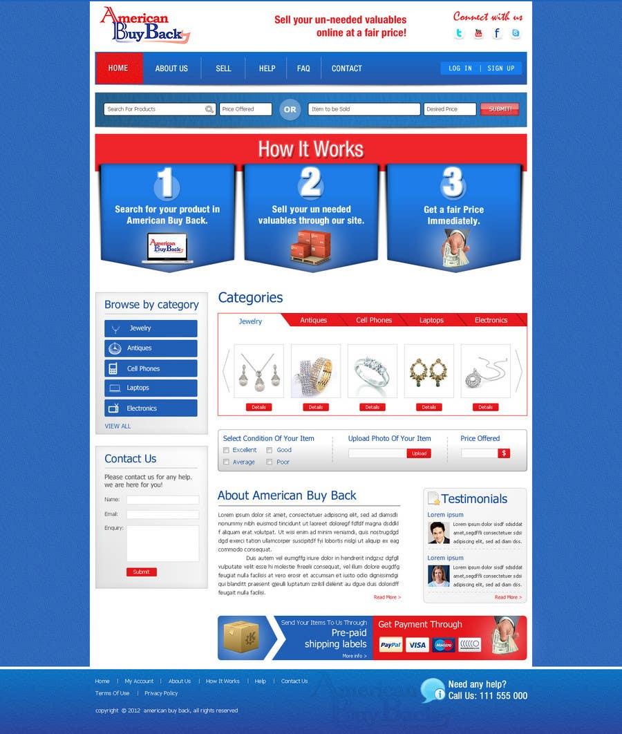Inscrição nº 74 do Concurso para Website Design for American Buy Back! Buying Electronics Antiques Gold and valuables Online w/Cash