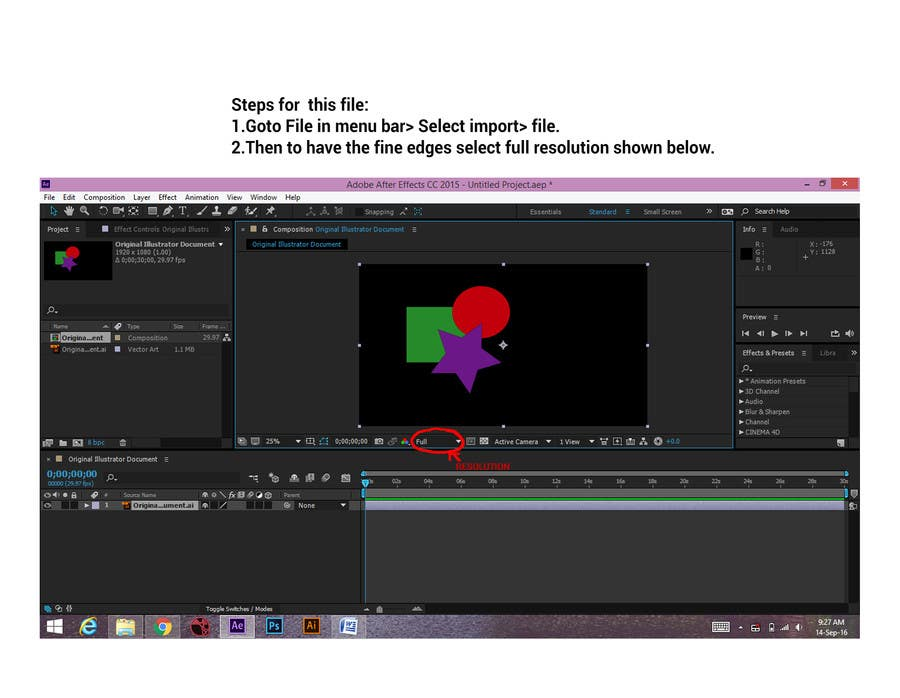 Entry #4 by shifali92 for Tell me how to import Adobe