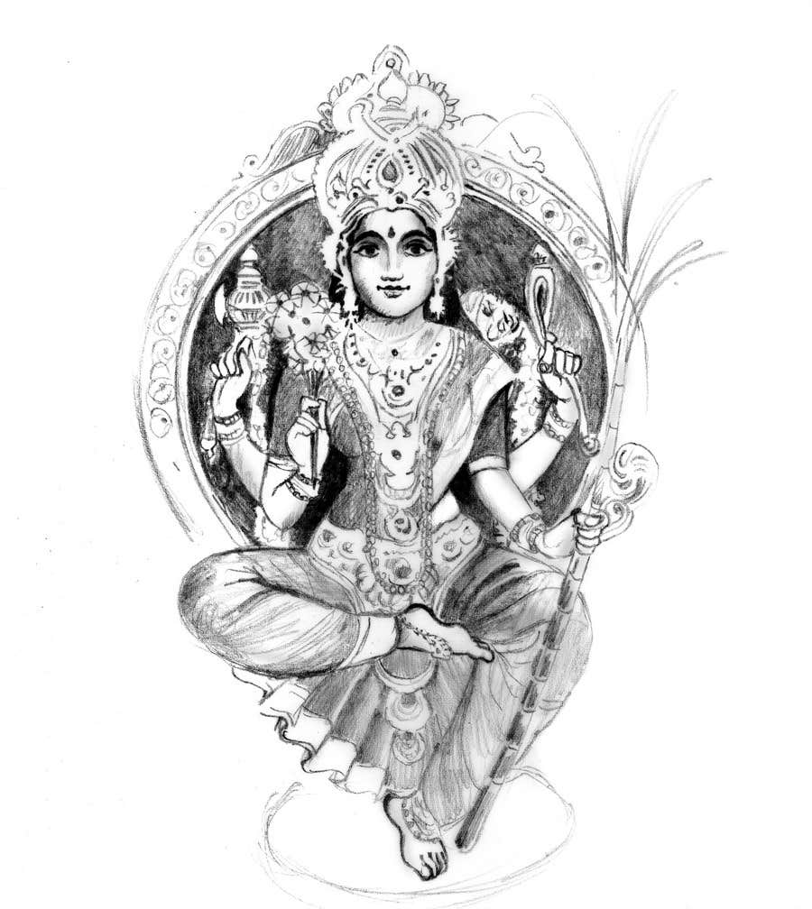 Inscrição nº                                         18                                      do Concurso para                                         Sketches of deities for a new book to be published on Hinduism