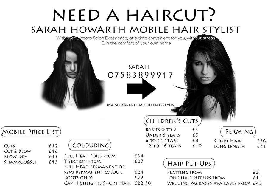 Entry 29 By Malekku For Design A Flyer For A Mobile Hair Stylist