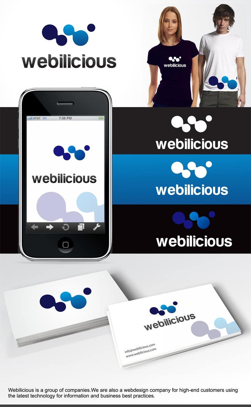Kilpailutyö #180 kilpailussa Logo Design for Webilicious