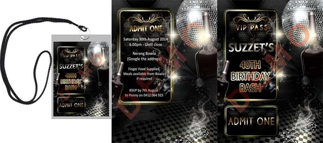 Bài tham dự cuộc thi #                                        12                                      cho                                         VIP Birthday Invitation to go in Lanyard