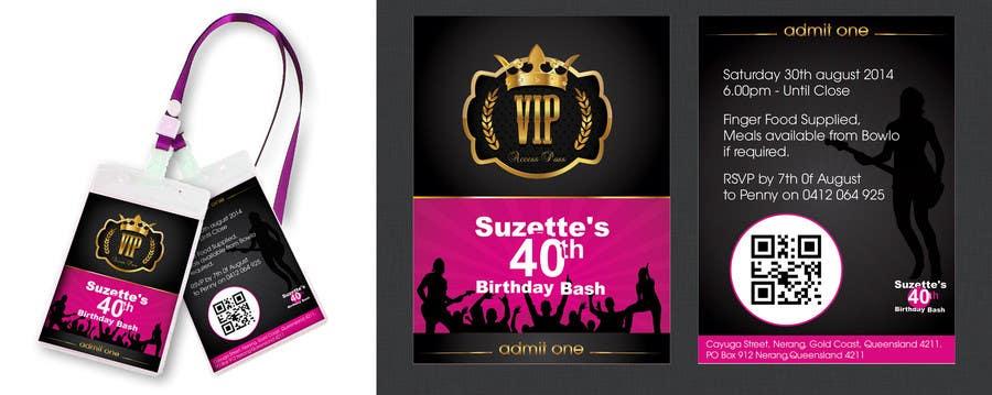 Bài tham dự cuộc thi #                                        6                                      cho                                         VIP Birthday Invitation to go in Lanyard