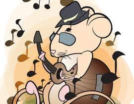 pashk tarafından Illustrate a cute, little, mouse holding a ukulele. için no 15