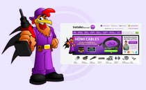 Need a Cartoon Rooster -- Cable TV Service Man Created! için Graphic Design25 No.lu Yarışma Girdisi