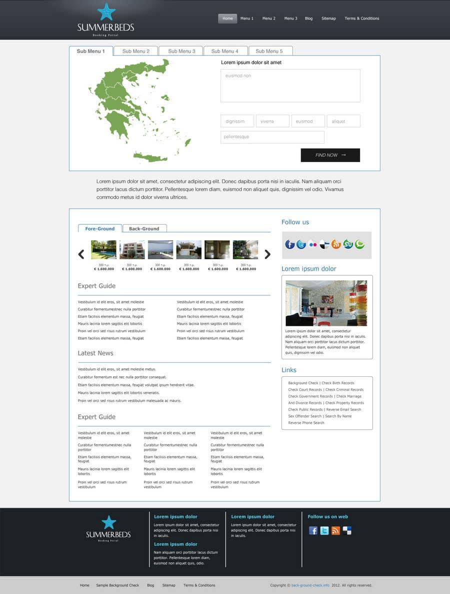 Bài tham dự cuộc thi #19 cho Website Design for SUMMERBEDS