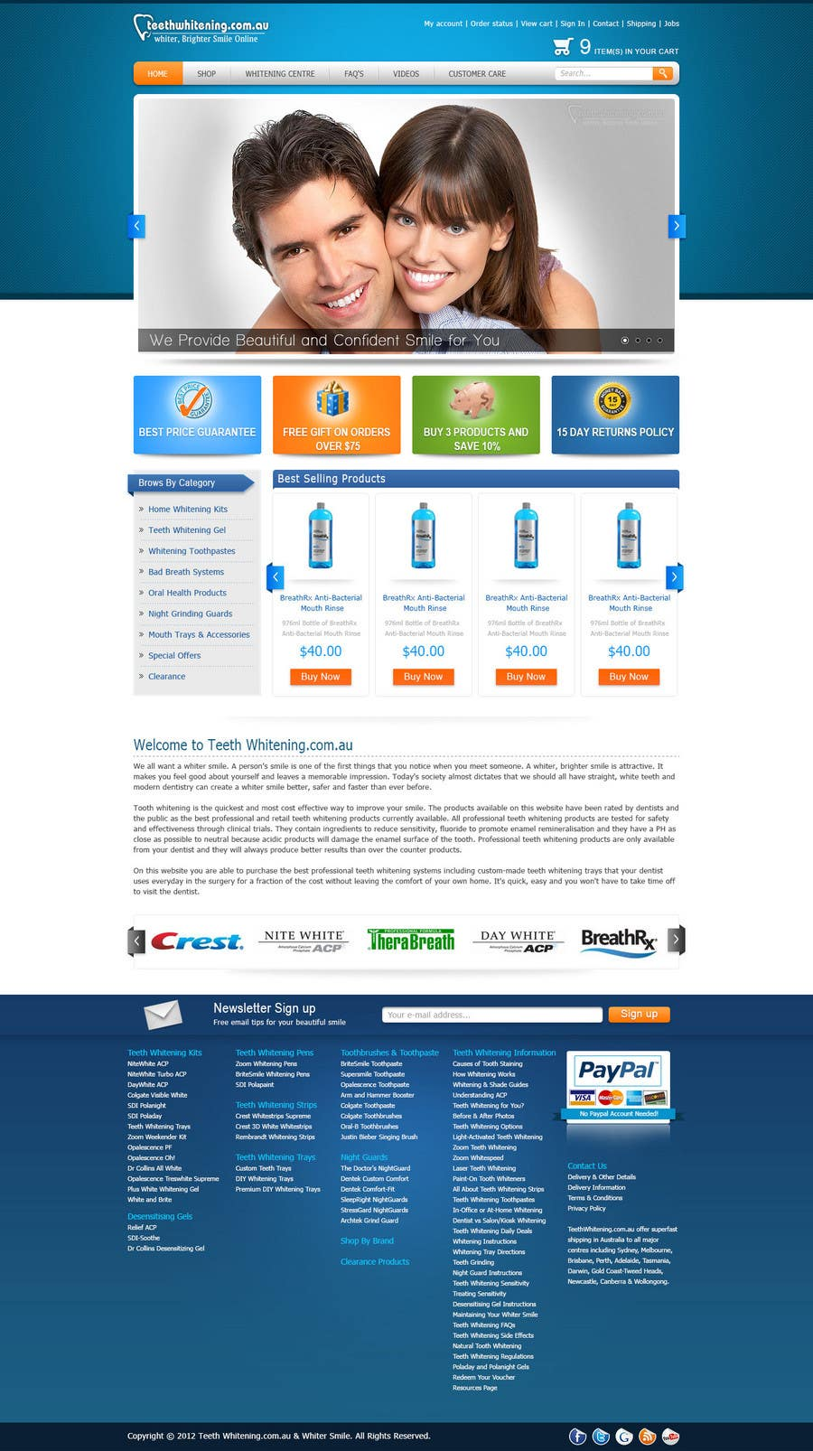 Konkurrenceindlæg #54 for Website Design for Teeth Whitening Australia (Online Retailer)