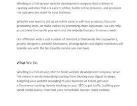 #12 for Content Writing for Web Design Business by bjfreeland