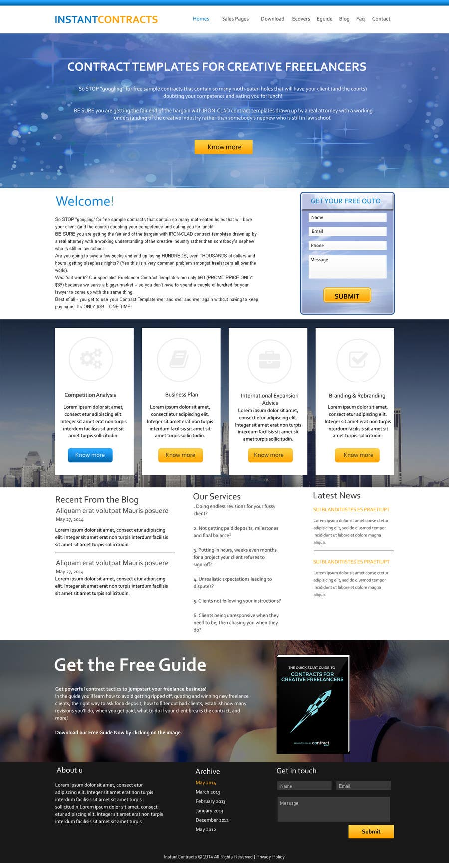 Website Design Mockup Sign Off Contract
