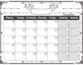 #101 for Easy $100 - Make a Monthly Calendar by karunrams