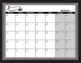 #78 for Easy $100 - Make a Monthly Calendar by yamzdesignz