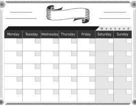 #68 for Easy $100 - Make a Monthly Calendar by AhmadBinNasir