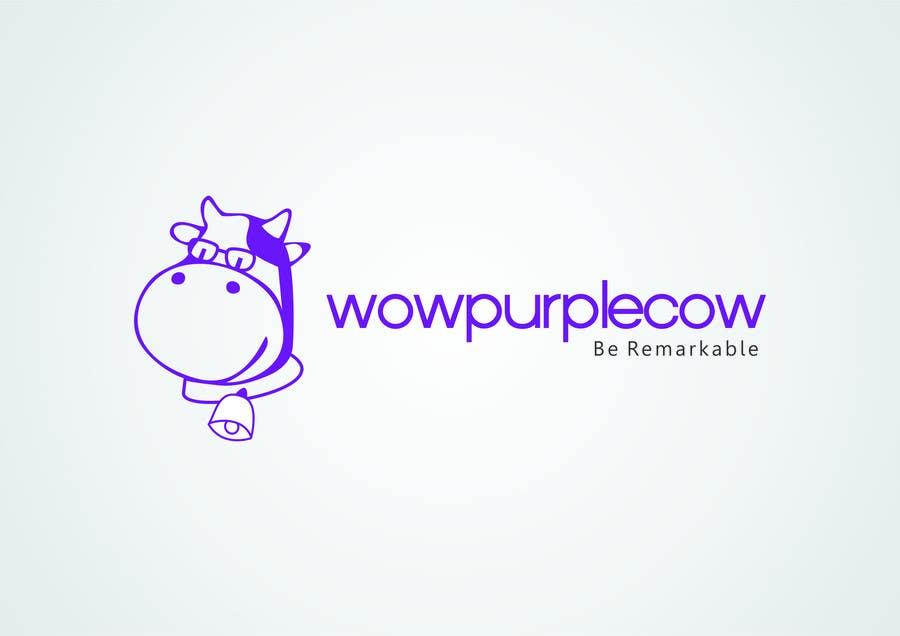 Bài tham dự cuộc thi #345 cho WOW! Purple Cow - Logo Design for wowpurplecow.com - Lots of creative freedom, Guaranteed Winner!