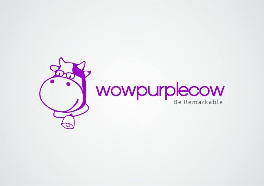 Bài tham dự cuộc thi #369 cho WOW! Purple Cow - Logo Design for wowpurplecow.com - Lots of creative freedom, Guaranteed Winner!