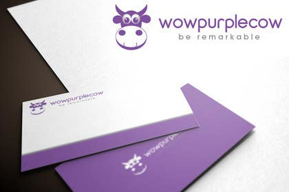 #113 pentru WOW! Purple Cow - Logo Design for wowpurplecow.com - Lots of creative freedom, Guaranteed Winner! de către iffikhan