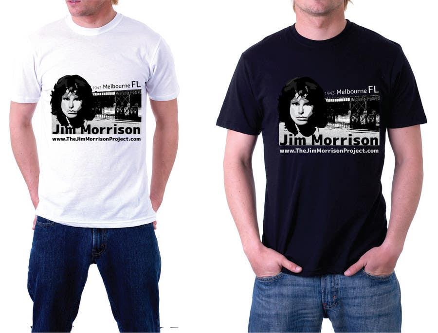 Penyertaan Peraduan #                                        47                                      untuk                                         T-shirt Design for www.TheJimMorrisonProject.com