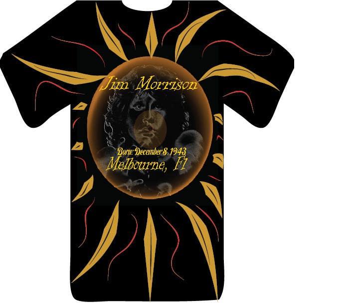 Penyertaan Peraduan #                                        35                                      untuk                                         T-shirt Design for www.TheJimMorrisonProject.com