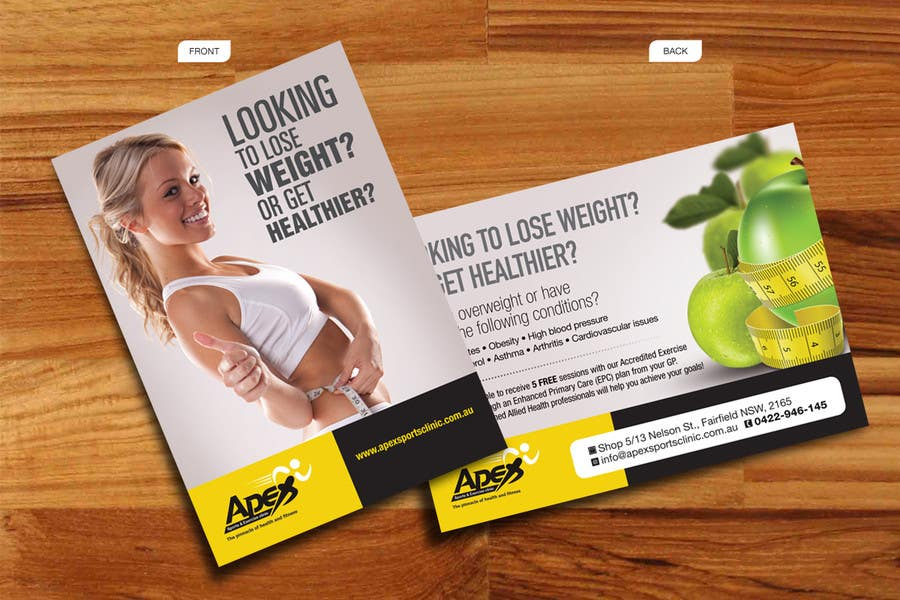 entry 40 by decorusads for design a small flyer for weight loss to