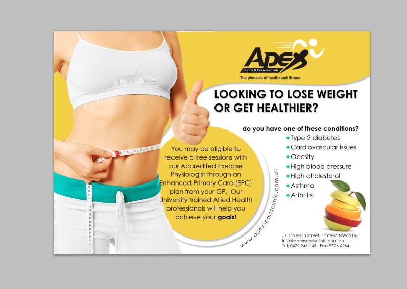 Inscrição nº                                         33                                      do Concurso para                                         Design a small flyer for weight loss to leave at shop counters
