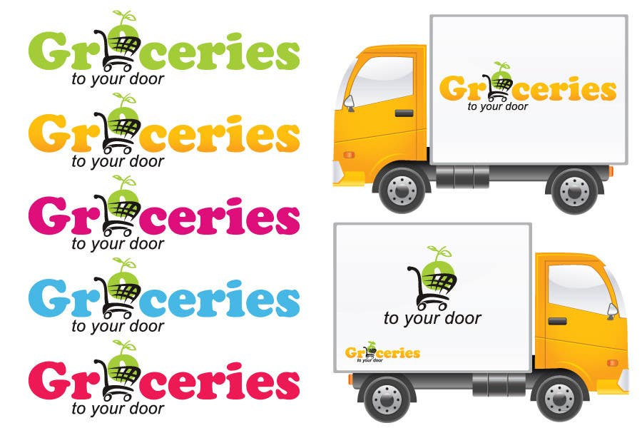 Entri Kontes #282 untukLogo Design for Groceries To Your Door