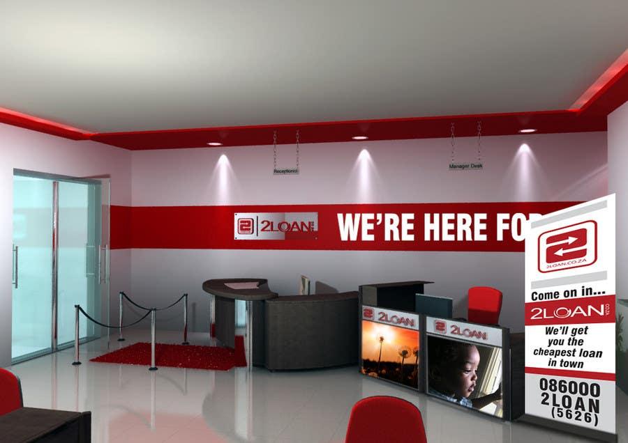 Bài tham dự cuộc thi #                                        72                                      cho                                         Advertisement Design for 2Loan.co.za Shopfront Mockup & Marketing Material Design